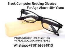 Load image into Gallery viewer, Black Computer Reading Glasses for Men and Women