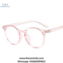 Load image into Gallery viewer, Transparent Pink Anti Blue Light Computer Glasses M8539 C5