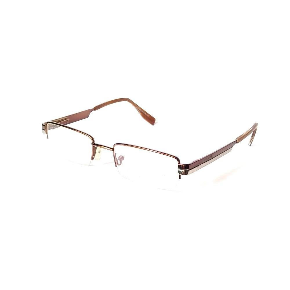 Brown Supra Half Frame Blue Light Blocker Computer Glasses CO05BR