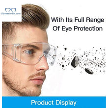Load image into Gallery viewer, Protective Safety Goggles Clear Lens Wide-Vision Adjustable Chemical Splash Lightweight Protective Eyeglass with Clear Lens for Lab - GlassesIndia