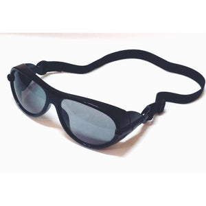 Dark Black Eye Safety Glasses Cataract Goggles with Band M110S-12