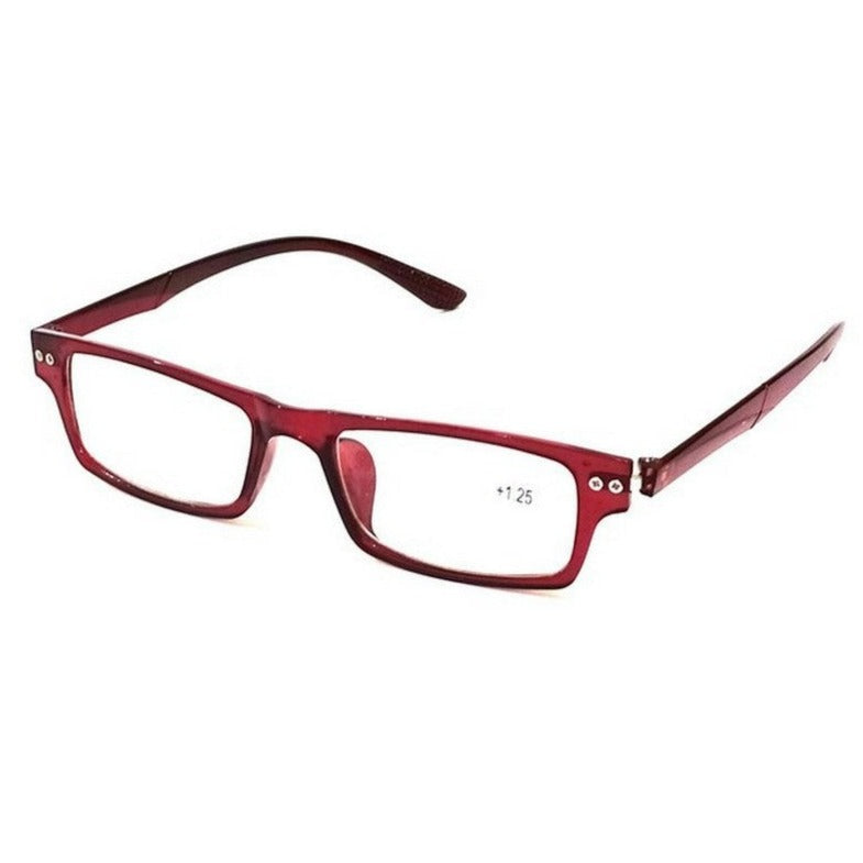 Crystal Wine Slim Plastic Reading Glasses 1012 Power +1.25