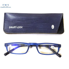 Load image into Gallery viewer, Blue Computer Reading Glasses Blue Light Blocking Reader Eyeglasses Anti Glare Eye Strain Light Weight for Women Men - GlassesIndia