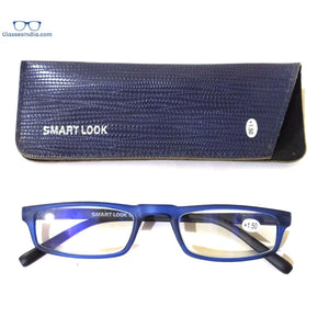 Blue Computer Reading Glasses Blue Light Blocking Reader Eyeglasses Anti Glare Eye Strain Light Weight for Women Men - GlassesIndia