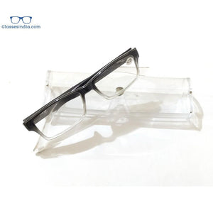 Grey Two Tone Rectangle Reading Glasses For Men Women Fashion Readers with Spring Hinges - GlassesIndia