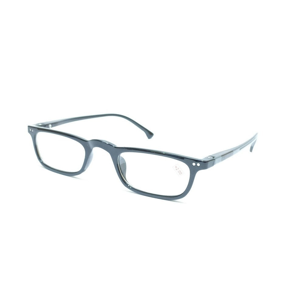 Slim Grey Reading Glasses For Men and Women with Spring P01SPGR