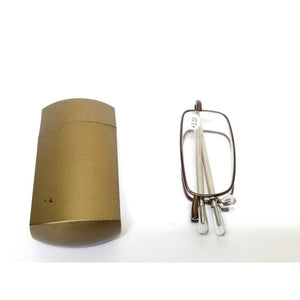 Copper Folding Reading Glasses Power +3.00