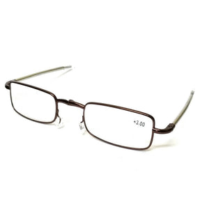 Copper Folding Reading Glasses Power +2.50