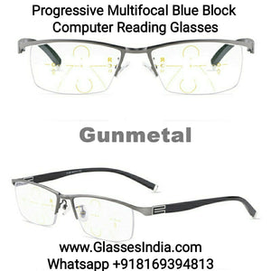 Progressive Reading Glasses with Blue Block Blue Anti Glare Lens