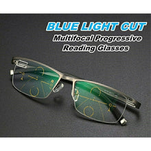 Load image into Gallery viewer, Progressive Reading Glasses with Blue Block Blue Anti Glare Lens