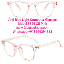 Load image into Gallery viewer, Pink Anti Blue Light Computer Glasses M8526 C5