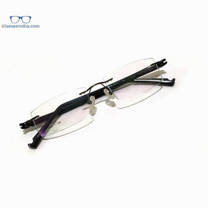 Black Rimless Blue Light Blocker Computer Glasses S003BK