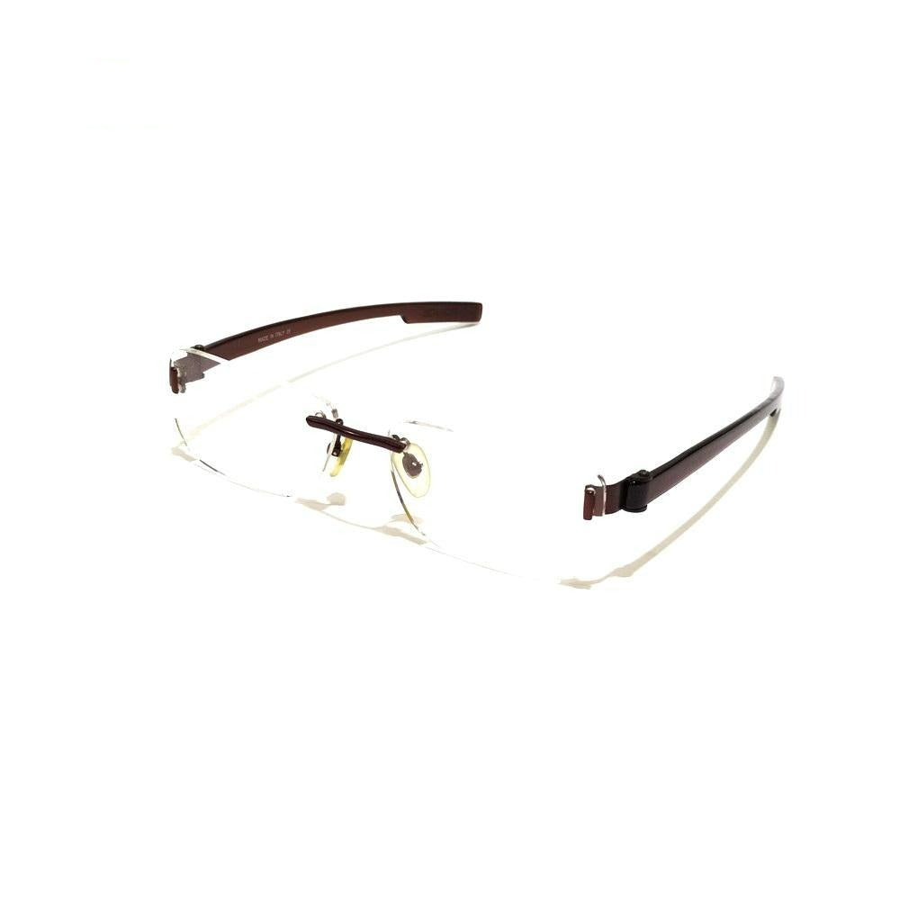 Brown Rimless Blue Light Blocker Computer Glasses S8020BR