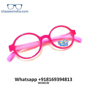Kids Blue Light Blocker Computer Glasses Anti Blue Ray Eyeglasses S8146C30 - GlassesIndia