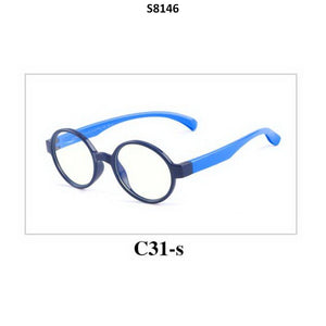 Kids Blue Light Blocker Computer Glasses Anti Blue Ray Eyeglasses S8146C31 - GlassesIndia