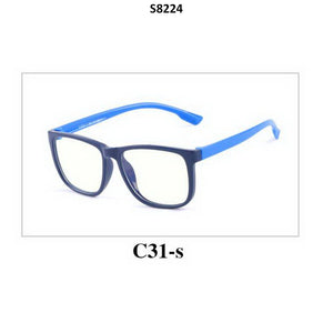 Kids Blue Light Blocker Computer Glasses Anti Blue Ray Eyeglasses S8224C31 - GlassesIndia