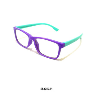 Kids Blue Light Blocker Computer Glasses Anti Blue Ray Eyeglasses S8225C34 - GlassesIndia