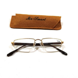 Metal Supra Half Rimless Reading Glasses
