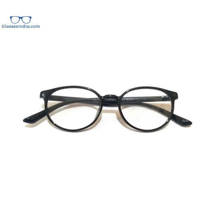 Blue Light Blocker Computer Glasses Anti Blue Ray Eyeglasses T17078BK - GlassesIndia
