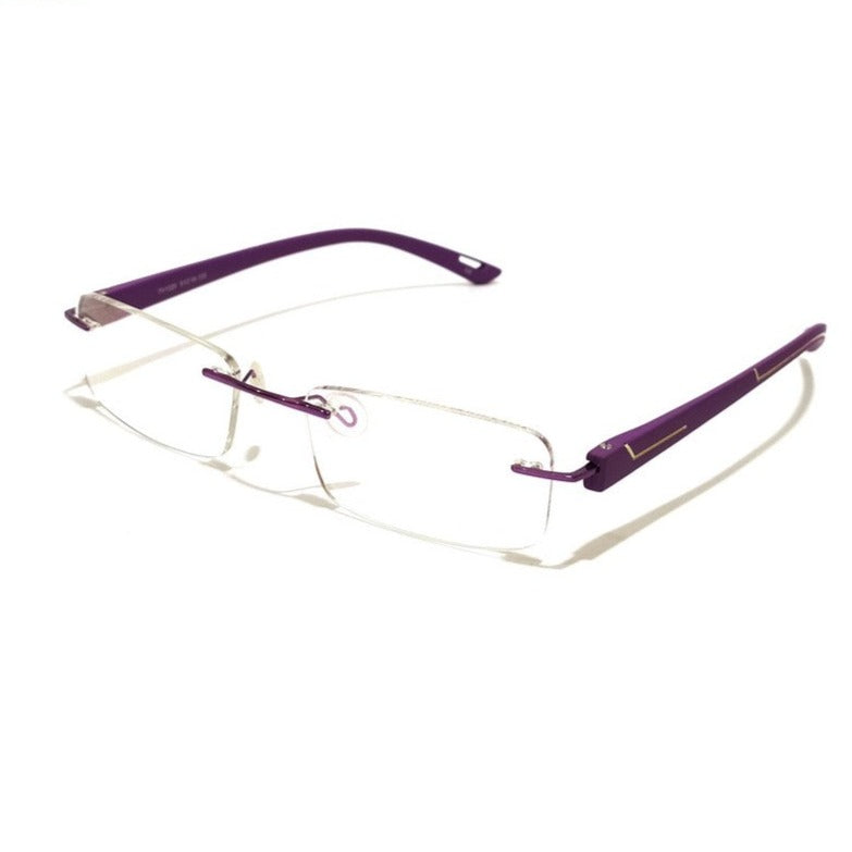 Purple Rimless Blue Light Blocker Computer Glasses TH1029PR