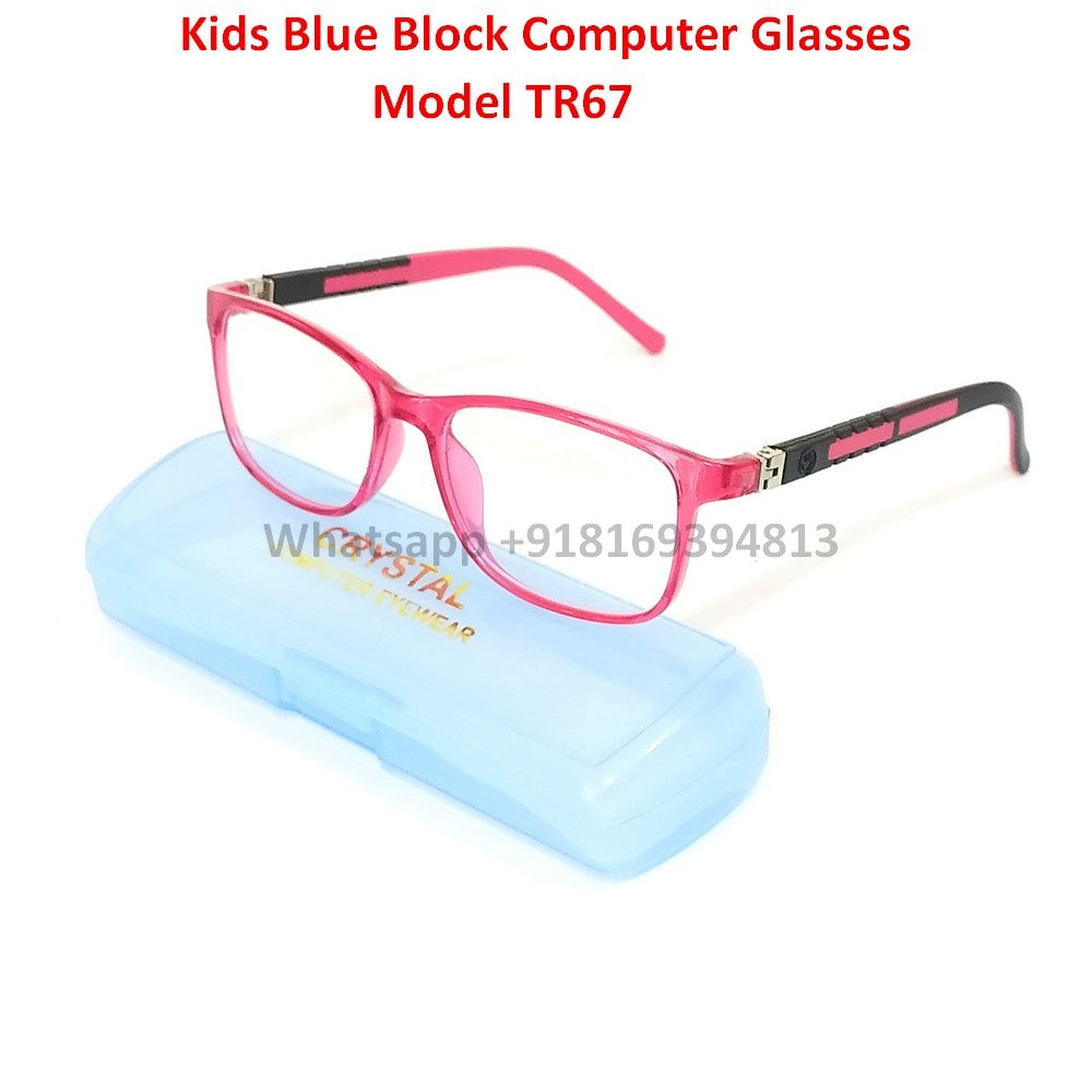 Trendy Fashion Anti Blue Light Kids Computer Glasses TR67C6