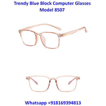 Load image into Gallery viewer, Transparent Brown Anti Blue Light Computer Glasses M8507 C3