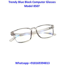 Load image into Gallery viewer, Transparent Grey Anti Blue Light Computer Glasses M8507 C6