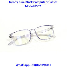 Load image into Gallery viewer, Transparent Blue Anti Blue Light Computer Glasses M8507 C7