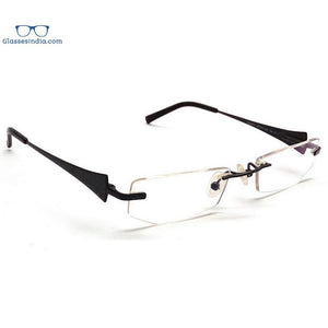 Black Rimless Computer Glasses with Anti Glare Coating CH8002BK