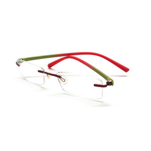 Green Rimless Blue Light Blocker Computer Glasses F001Gr