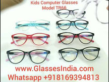 Load and play video in Gallery viewer, Trendy Fashion Anti Blue Light Kids Computer Glasses TR66C5