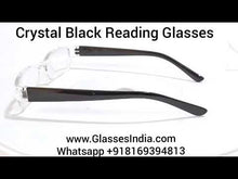 Load and play video in Gallery viewer, Crystal Black Reading Glasses for Men and Women