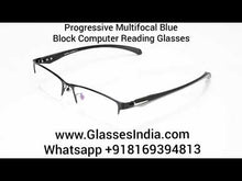 Load and play video in Gallery viewer, Progressive Reading Glasses with Blue Block Blue Arc Lens