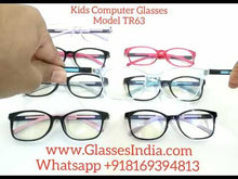 Load and play video in Gallery viewer, Trendy Fashion Blue Light Glasses for Kids Computer Glasses TR63C1