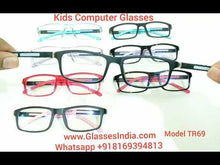 Load and play video in Gallery viewer, Trendy Fashion Anti Blue Light Kids Computer Glasses TR69C6