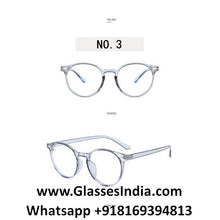 Load image into Gallery viewer, Transparent Blue Anti Blue Light Computer Glasses M8539 C7