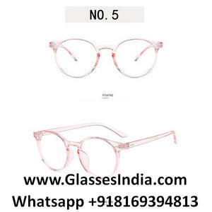 Transparent Pink Anti Blue Light Computer Glasses M8539 C5