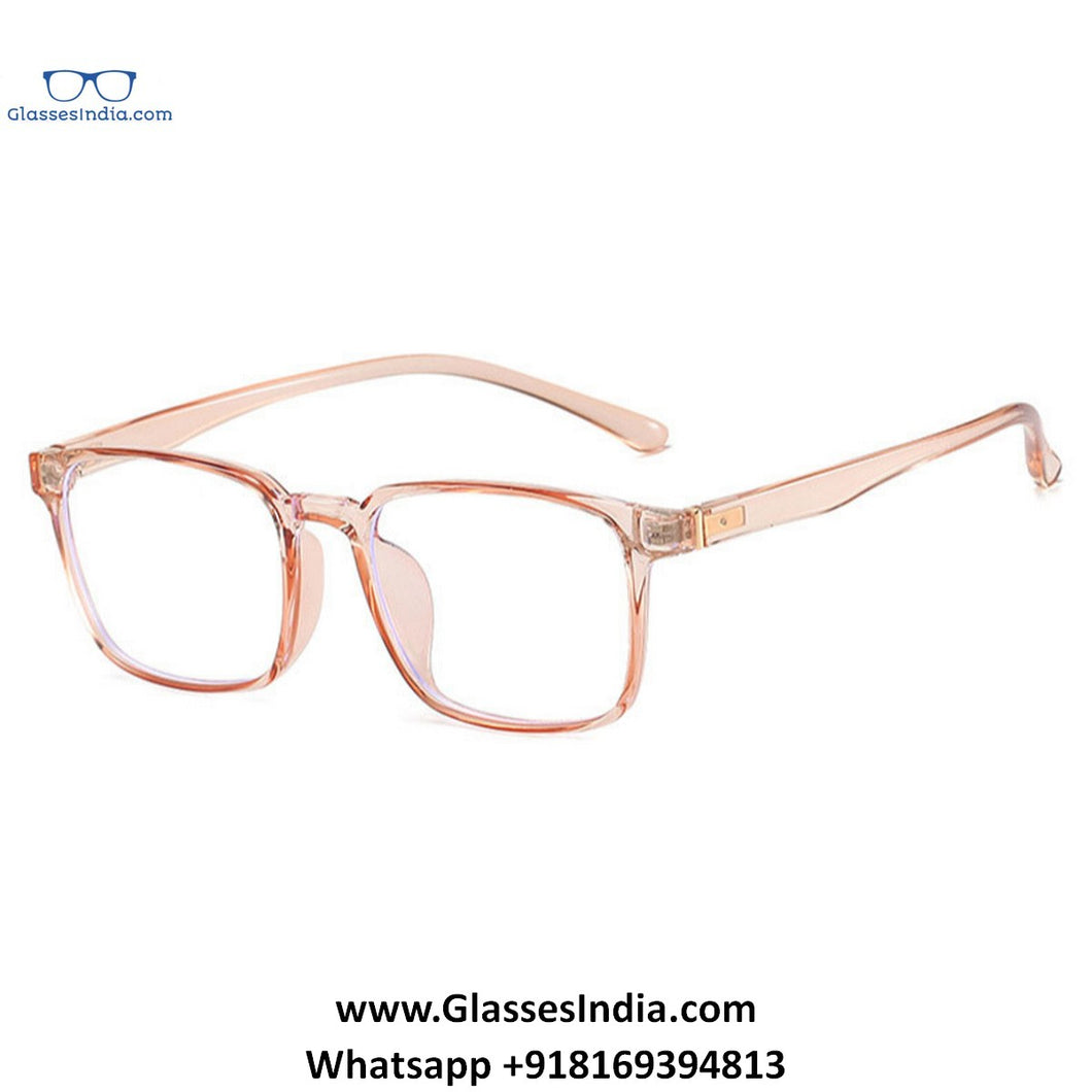 Transparent Pink Anti Blue Light Computer Glasses M8507 C5