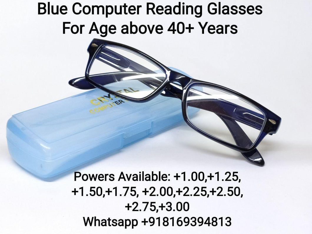 Blue Computer Reading Glasses for Men and Women