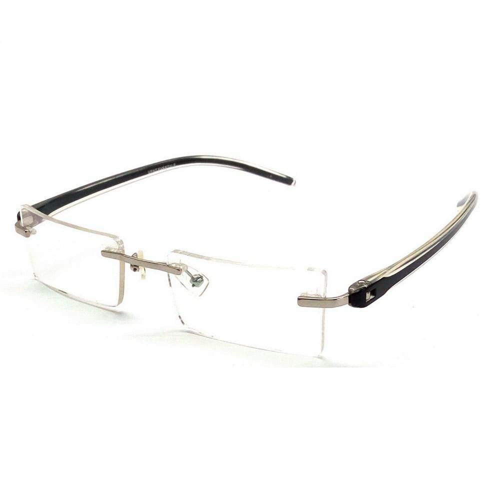 Black Rimless Blue Light Blocker Computer Glasses V9023Bk