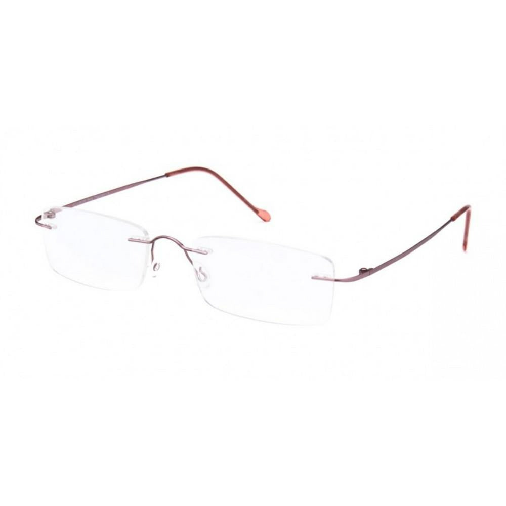 Pink Rimless Computer Glasses with Anti Glare Coating - GlassesIndia