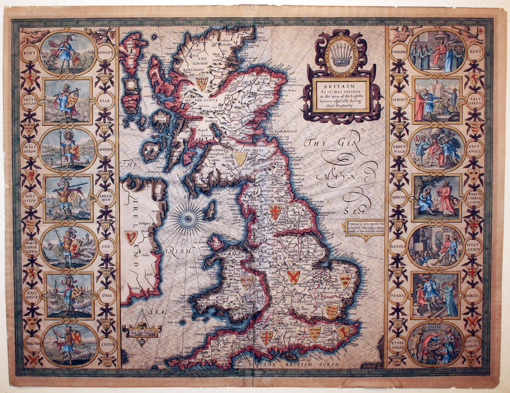 Carte des royaumes anglo-saxons