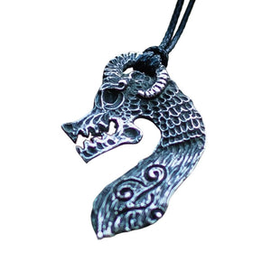 Collier Dragon de Drakkar Scandinave