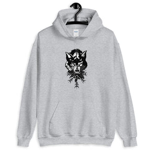 Sweat à capuche loup viking
