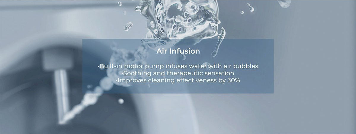 mordeer c650 bidet seat with air infused water with air bubbles