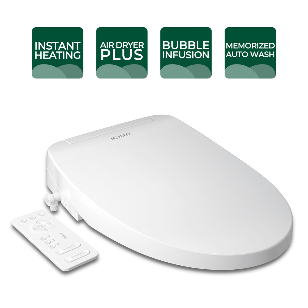 C650 Instant Heating Bidet Toilet Seat with Heated Seat, Warm Air Dry Boost, Air Infusion Technology and Remote Control