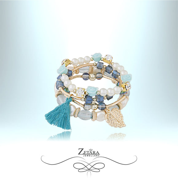 Eleanor Vintage Crystal Bracelet - Baby Blue