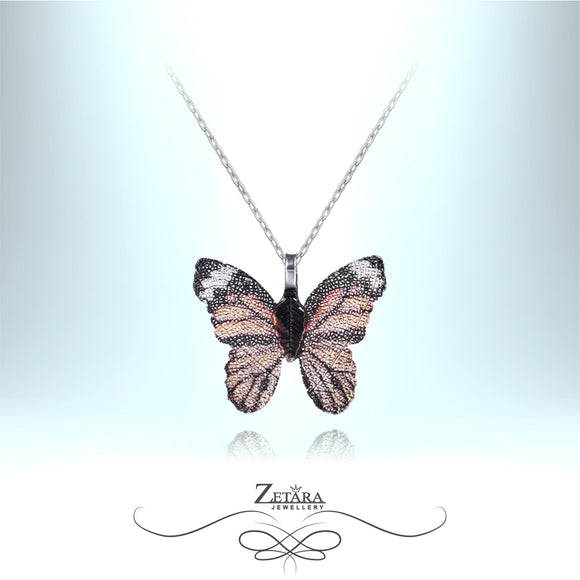Butterfly Necklace - Brown