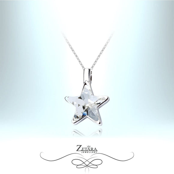 Underwater Clear Crystal Star Necklace