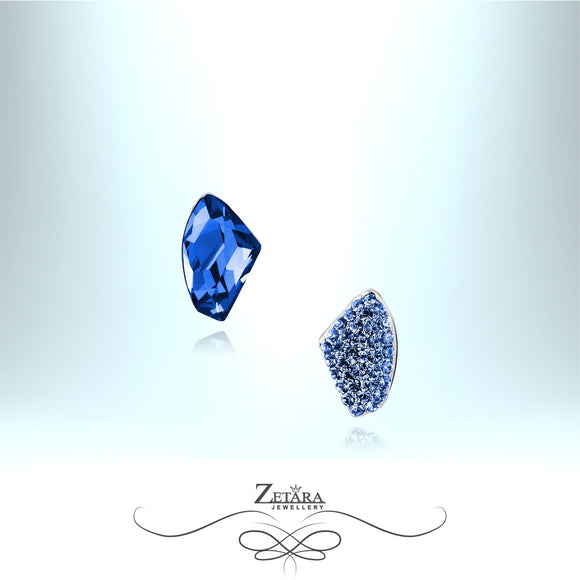 Royal Blue Sapphire Crystal Earrings